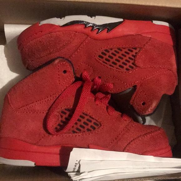 promo code fa34f 456a6 Jordan 5- red suede